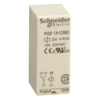 RSB1A120BD реле 1co 24в пост ток rsb1a120bd Zelio Schneider Electric