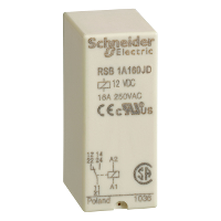 RSB1A160JD реле 1co 12в пост ток rsb1a160jd Zelio Schneider Electric