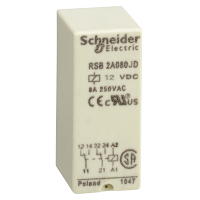 RSB2A080JD реле 2co 12в пост ток Zelio Schneider Electric