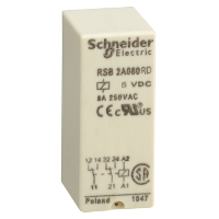 RSB2A080RD реле 2co 6в пост ток Zelio Schneider Electric